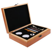 Retro Sealing Wax Set Brass Wax Seal Stamp+Sticks+Wax Melting Spoon+Candles