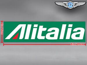 ALITALIA RECTANGULAR LOGO DECAL / STICKER