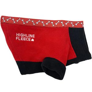 Highline Fleece Dog Coat Red & Black Rolling Bones Little to Big Dog Sizes 8-28