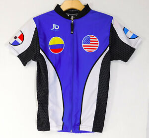 JB Ropa Deportiva Bee Sting Graphic CYCLING JERSEY Full Zip SHIRT USA Flag SMALL