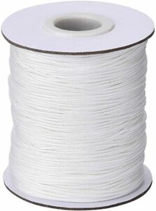 2MM ROMAN BLIND CORD WHITE POLYESTER 10/20/30/40 METERS AVAILABLE VENETIAN
