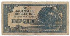 Netherlands Indies - 1/2 Gulden 1942  P#122b - Joelnumismatics- (1)