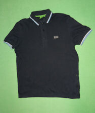Hugo Boss navy blue polo t-shirt for men size S 100% cotton
