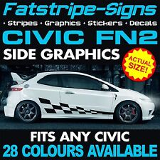 HONDA CIVIC FN2 GRAPHICS DECALS STICKERS STRIPES TYPE R S VTEC 1.6 2.0 JAP MUGEN
