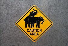 ELEPHANT HUMPING SIGN    /     ALUMINUM  ZOO WARNING PLAQUE