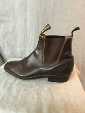 RM Williams Womens Brown Solid Pull On Chelsea Leather Boots Size 4.5