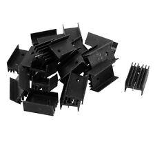 20x Negro Enfriador de aluminio Disipador de calor 25x15x10mm para TO-220 IC T5