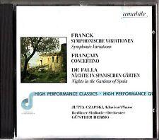 FRANCK -Symphonic Variations -De Falla Gardens Of Spain CD (Herbig/Czapski)