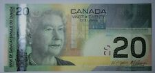 UNC Canada $20 2004 journey Bank Notes paper money Consecutive serial number