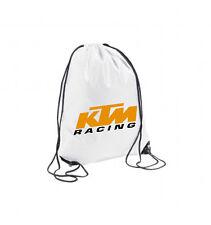 SACCA ZAINO BORSA ZAINETTO SPORTIVO MULTIUSO BIANCA KTM RACING