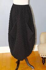 KEDEM SASSON O/S S M L XL Black Textured Puckered Big Pockets Long Skirt NWT