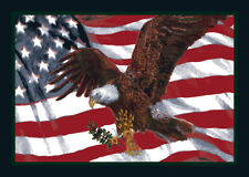 "4x6 Milliken American Pride 02000 Opal Bald Eagle Area Rug - Approx 3'10""x5'4"""