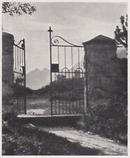 D3346 Cancello del Cimitero del Maloia - Stampa d'epoca - 1940 vintage print