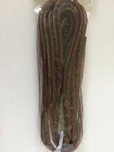 Harvest Brown ~ Wreath ~ Deco Mesh Flex Tubing ~ 36 feet / 12 yds