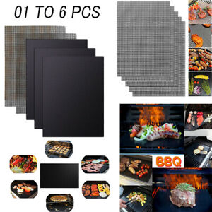 BBQ Grill Mesh/Mat Non-Stick  Reusable Sheet Resistant Cooking Baking Barbecue