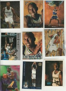 JOE SMITH LOT (22) DIFFERENT W/ 19 1995-96 ROOKIES RC METAL SP GALLERY TOPPS