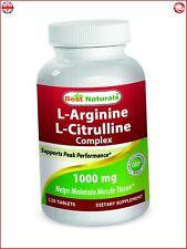Best Naturals L Arginine L Citrulline Complex Supports Peak Perfomance 1000 mg