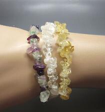 Healing - Fast Free Us Shipping 3 Gemstone Chip Stretch Bracelets - Crystal