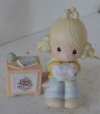 Precious Moments Porcelain Figure 1983 Piggy Bank Dues No Box