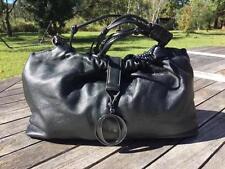 OROTON BUTTERSOFT BLACK SHiMMER LEATHER BAG