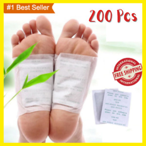 200 PCS/lot GOLD Premium Kinoki Detox Foot Pads Organic Herbal Cleansing Patches