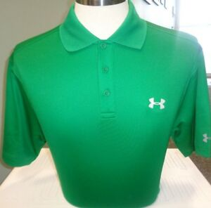 MENS UNDER ARMOUR PERFORMANCE TOUR LOGO SOLID POLO GOLF SHIRT, PICK SIZE & COLOR