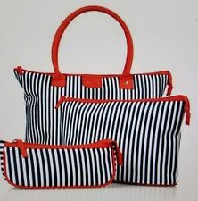 New THREE (3) PIECE NAUTICAL TOTE AND POUCH SET