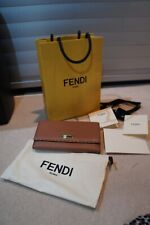 Fendi Dark tan supersoft leather wallet Excellent used condition