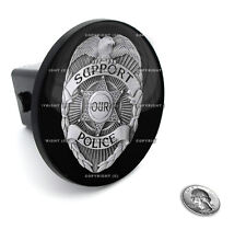 "2"" Tow Hitch Receiver Plug Cover Insert For SUV's & Trucks - ""POLICE SUPPORT"""