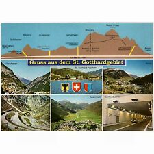 AK St. Gotthardgebiet Uri-Tessin Längster Straßentunnel d. Welt Göschenen Airolo
