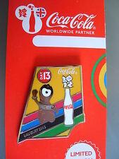 COCA COLA PIN BADGE - LONDON 2012 - DAY 13 WENLOCK MASCOT - MOC