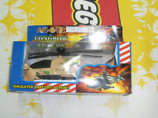 90'S Vintage Toy Helicopter Apache Ah-64 Longbow Battery Operated Mib