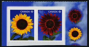 Canada 2444b booklet pair MNH Sunflowers