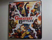 2013 Marvel Greatest Battles MASTER SET Binder/Case Topp/Parallel +BONUS BV=$309