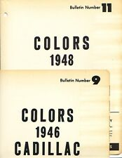 1946 AND 1948 CADILLAC PAINT CHIPS (DUPONT)