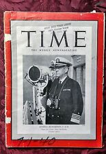 TIME July 1 1940 Jul 7/1/40 Admiral Joe Richardson U. S. N. Pacific Fleet