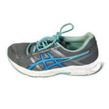 Asics Gel-Contend 4 Ortholite Sneakers Shoes Women Size 7 Gray Blue Mesh T767Q