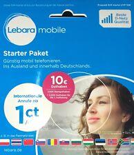 Lebara Prepaid Simkarte Aktiviert - Registriert - Aktiv (+10€ GUTHABEN) Telekom