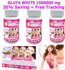 3X GLUTA GLUTATHIONE 1500000 mg Pills Capsules Vitamin C Collagen Whitening Skin