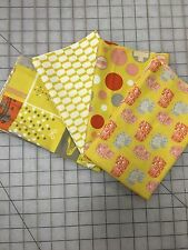 OOP Julie Comstock Moda 2wenty-Thr3e Fabric Fat Quarter Bundle in Mustard
