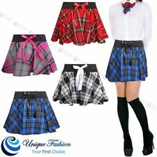 Polyester Check Plus Size Skirts for Women