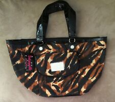 REDUCED*Betseyville Betsey Johnson* Black & Brown Animal Print Tote Shoulderbag*