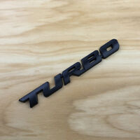 1P Black 3D TURBO Word Letter Sport Sticker Car Metal Chrome Logo Emblem Sticker