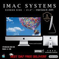 """APPLE IMAC A1311 21.5""""2010 INTEL CORE i3 RAM 4GB 500GB HDD WEBCAM 1YEAR WARRANTY"""