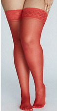 Lane Bryant sexy Venetian Red Thigh Highs size C-D