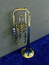 Konzerttrompete Goldmessing ohne Marke gebraucht mit Koffer