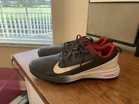 NEW Nike Lunar Command 2 Gray/White/Red Men's Golf Shoes Size 11.5 - FREE SH