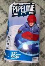 """Pipeline Sno 32"""" Inflated Racer Snowtube Portable Sled"""