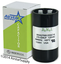 270-324 MFD uf 110-125 VAC Round Electric Motor Start Capacitor • Made in USA