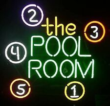"New The Pool Room Billiards Game Room Beer Pub Bar Neon Light Sign 19""x15"""